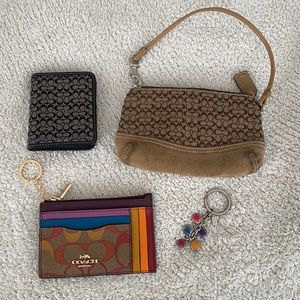 Coach rainbow cardholder plus accessories